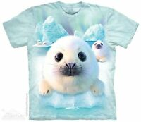 Sealpups T-Shirt by The Mountain.  Aquatic Animal Marine Puppies Sizes S-5X NEW