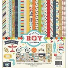 Echo Park THAT's MY BOY 12x12 Collection Kit Teen Sports Son Guy Scrapbook