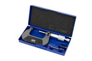 Metric External Micrometer Caliper 25-50mm (0.01mm Graduations) In Case S-MIC50