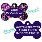 Muddy Girl Purple Camo Double Sided Pet Id Dog Tag Personalized for Your Pet