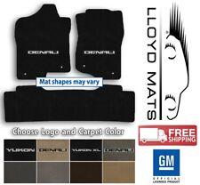 GMC Yukon or Denali - 3pc Lloyd Velourtex Carpet Mat Set - Choose Color and Logo