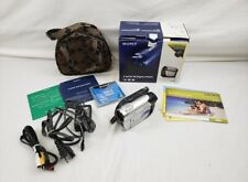 SONY Handycam DCR-DVD108 Camcoder In Original Box w/ Extras and Case/Bag - USED