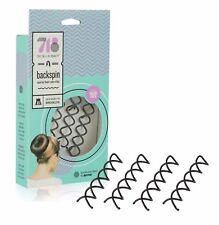 718Beauty Backspin Spiral Hair Pin - Color: Dark - 4 Pins - Like Goody Spin Pin