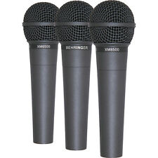 Pack of 3 - Behringer Ultravoice XM8500 handheld vocal microphone inc case/clip