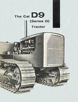Caterpillar D9D Diesel Tractor Sales Booklet 1956