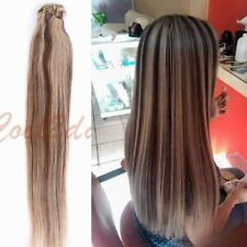 """7pcs 15"""" 18"""" 20"""" 22"""" Clip In Remy Real 100% Human Hair Extensions Full Head Weft"""