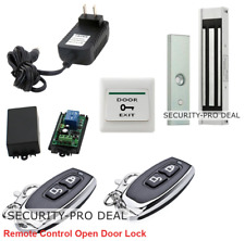 USA Door Access Control System + Magnetic Door Lock +2 Remote Controls Open Lock