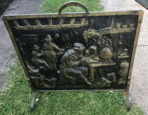 Brass Victorian Fireplace Screen