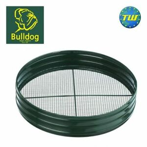 "Bulldog 1/4"" Garden Soil & Stone Metal Sift Riddle with 75mm Deep Steel Sieve"