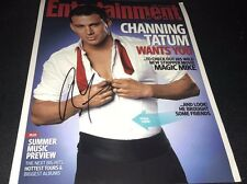 Channing Tatum Actor Hand Signed 11x14 Entertainment Cover Photo w/COA