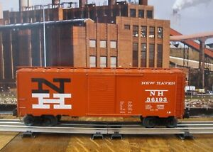 Athearn New Haven 40' Single Door Boxcar - Scale Metal Wood - O Ga Trucks
