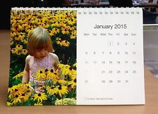Personalised 2018 Calendar Photograph stand up desk Calendar 12 different photos