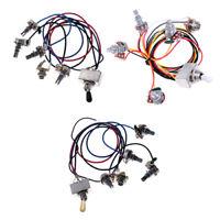 3 Sets Guitar Wiring Harness Box Type 3 Way Toggle Switch 500K Pots