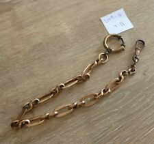 SUPERB QUALITY VINTAGE GOLD PLATED SINGLE ALBERT POCKET WATCH CHAIN