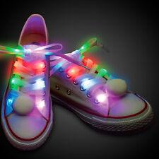 MULTICOLOR LED Shoelaces Shoe Laces Flash Light Up Strap Disco Dance Party Xmas