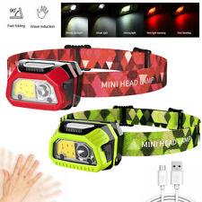 USB Rechargeable XPE COB LED Headlamp Headlight Head Light Lamp Torch Flashlight