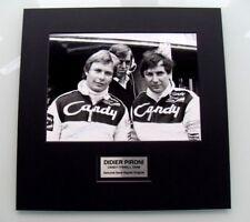 Didier Pironi autentico firmato a mano 1979 CANDY TYRRELL PRESS PHOTO COA F1 FERRARI