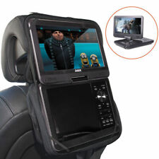 "Laser DVD/CD/USBSD Card Media Player Portable 10"" Screen w/Car Headrest Holder"