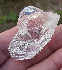 1 - QUARTZ CRYSTAL BRAZIL ROUGH UNPOLISHED ICE SHARD 30mm - 35mm  BAG * ID CARD