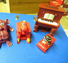 3 X Vintage Mcdonalds Happy Meal Toys Fast Food Restaurant Piano Dinosaur Car