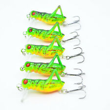5pcs Lot Cricket Lure 4cm/3.5g Grasshopper Fishing Lures CrankBait Bait Tackle