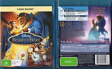 BEAUTY AND THE BEAST Blu-Ray 2-DISC REGION A, B, C oz seller Disney