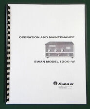 "Swan 1200W Instruction Manual: 11""x17"" Foldout Schematic & Protective Covers!"