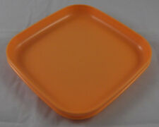 Tupperware Picknickteller Kinderteller Teller Picknick Quadratisch Orange Neu