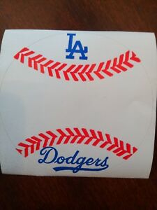 """LOS ANGELES DODGERS VINTAGE TEAM ISSUED STICKER DECAL 3"""" X 3"""""""
