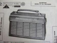 SILVERTONE 600,  217 TRANSISTOR RADIO PHOTOFACT