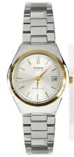 Casio LTP1170G-7A Ladies Stainless Steel Silver Gold Dial Casual Dress Watch NEW