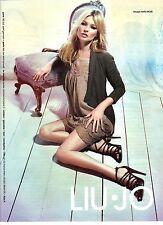 PUBLICITE ADVERTISING 2012  LIU.JO modèle KATE MOSS vetements chaussures