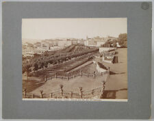 VINTAGE 8 X 10 ALBUMEN PRINT - VIEW OF CITY OF ROME FROM VILLA ALDOBRANDINI
