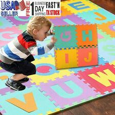 36Pcs Alphabet Numbers Eva Floor Play Mat Baby Room Abc Foam Puzzle Large Usa