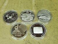 2002, 5 x 10 Euro Silber PP , Jahrgang komplett