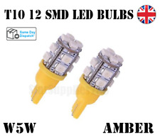 2X T10 CANBUS LED BULBS AMBER 501 CAR SIDELIGHTS INTERIOR AUDI BMW FORD MERCEDES