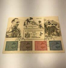 Liechtenstein Jamboree 1937 Scout Baden Powell postcard sign by Prince Emanuel
