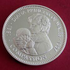 Liberia 1997 PRINCESSE DIANA compassion $20 1 oz (environ 28.35 g) .999 Fine Silver Proof