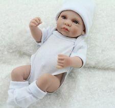 "Handmade Reborn Baby Dolls Boy 10"" Full Vinyl Boy Realistic Mini Baby Kids Gifts"