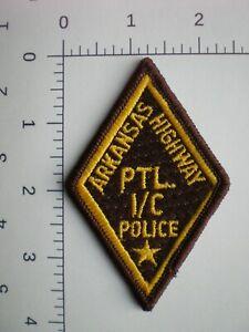 AR Arkansas Highway Patrol State Police Trooper PATROLMAN 1st CLASS patch RARE !