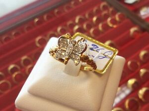 18KT Gold Diamond Ring Butterfly Style