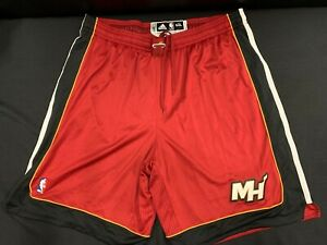 MIAMI HEAT #45 HASSAN WHITESIDE ADIDAS USED RED GAME SHORTS SIZE 5XL +2 LENGTH