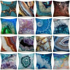 """Throw PILLOW COVER Marble Abstract Home Decor Soft 2-Sided Cushion Case 18x18"""""""