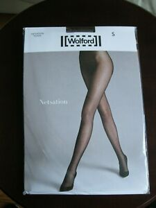 "Wolford ""Netsation"" Tights in 'clove' - Size Small - New In Package"
