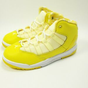 Air Jordan Max Aura 'Dynamic Yellow' Sz 11.5C AQ9250-701 NWOB
