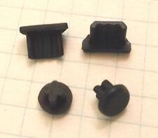 Set antipolvere tappo Micro-USB + jack cuffie 3.5mm plastica nero universale