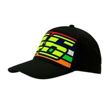 VR46 Stripes Black Cap Valentino Rossi Mens Baseball Hat One Size The Doctor J&S