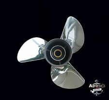 YAMAHA 13 1/2 x 15-k 3 Blade Polished Stainless Steel Prop Propeller 50-140hp