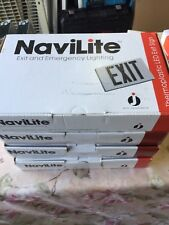 4 New Navilite Emergency Exit Sign LED Battery BacUp White W Red Letter NXPB3RWH