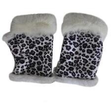 Winter Women Men Fur Knitted Fingerless Gloves Unisex Soft Warm Fashion Mittens
